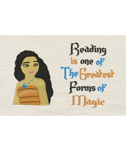 Moana emboidery with reading is one Embroidery