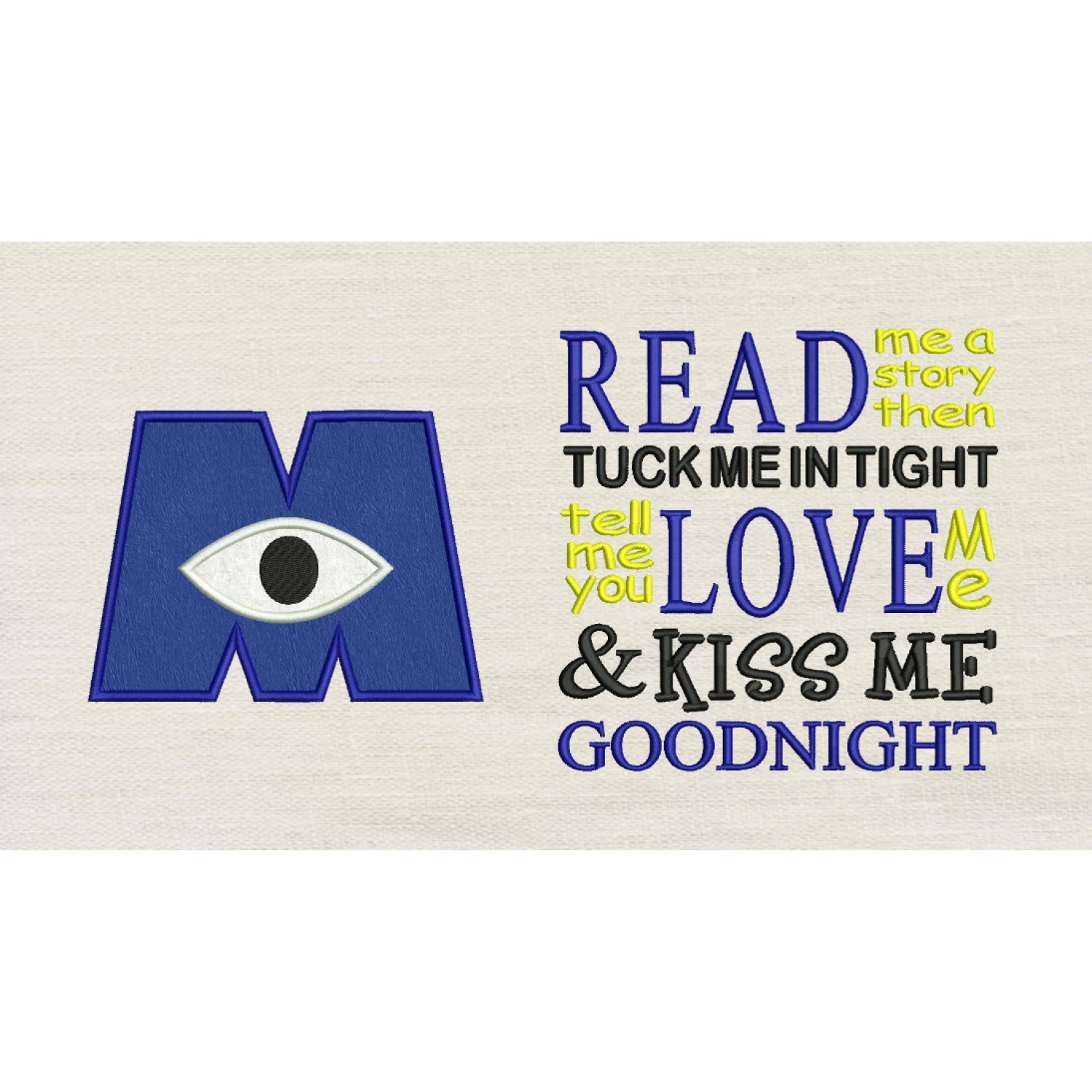 Eye monster with read me a story