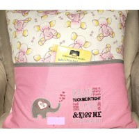 Elephant Hearts with read me Reading Pillow