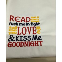 Read me story Machine Embroidery
