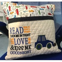Digger embroidery with read me a story Machine Embroidery