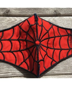 Face mask spiderman Embroidery Design For kids and adult in the hoop design