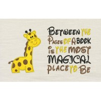 Giraffe with Between the Pages