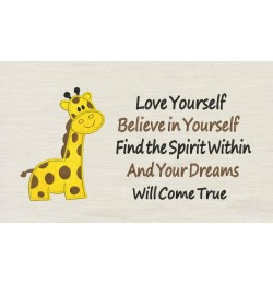 Giraffe with Love yourself