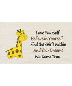 Giraffe with Love yourself
