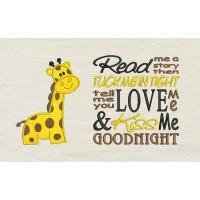Giraffe with Read me