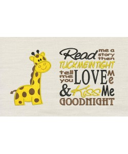 Giraffe with Read me