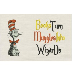 Dr. Seuss stitches with Books turn