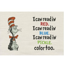Dr. Seuss stitches with I Can Read