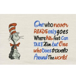 Dr. Seuss stitches with One who never reads