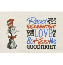Dr. Seuss stitches with read me