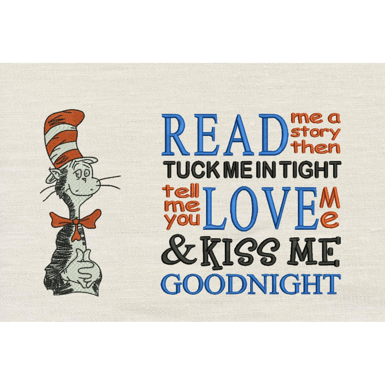 Dr. Seuss stitches with Read me a story