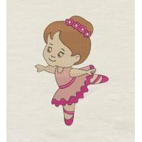 Ballerina girl Machine Embroidery