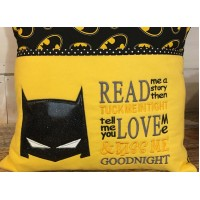 Batman Mask with read me a story Embroidery
