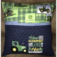 Tractor embroidery with read me a story Designs