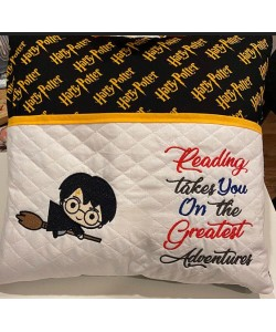 Harry potter Broom with reading takes you Designs