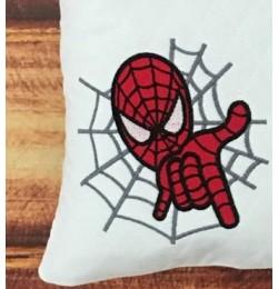Spiderman applique design embroidery