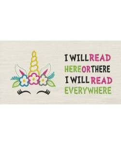 Unicorn empty with i will read