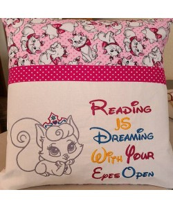 Cat princess with reading is dreaming