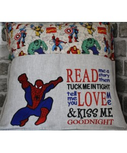 Spiderman grand read me a story Embroidery