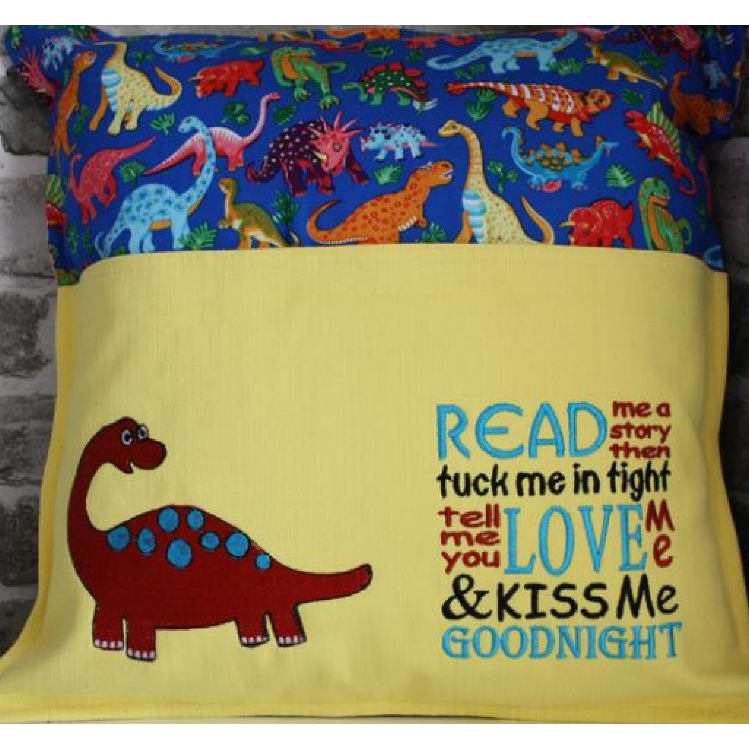 Dinosaur grand with read me a story Embroidery