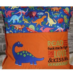 Dinosaur grand with read me a story Embroidery Designs