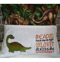 Dinosaur grand with read me story Embroidery Designs