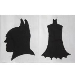 Batman Mask with Batman Silhouette
