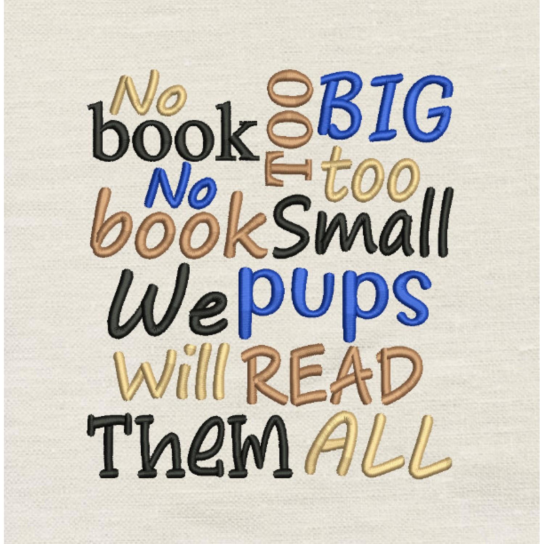 No book too big Embroidery