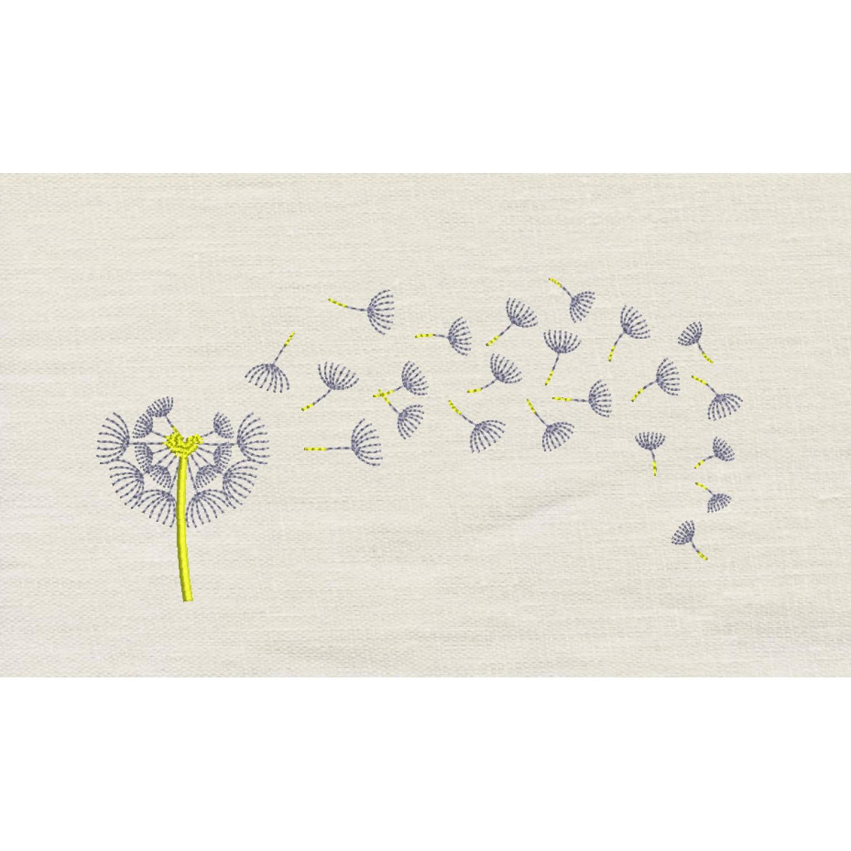 Dandelion embroidery