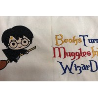 Harry potter Broom with Books turn designs