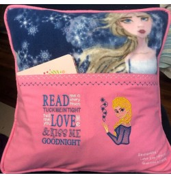 Elsa Frozen embroidery with Read me a story Designs