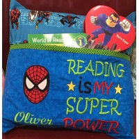Spiderman Face With Reading Is My Super Power designs