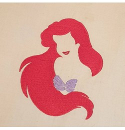 Little Mermaid Design Machine Embroidery