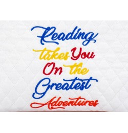 Reading takes you Machine Embroidery