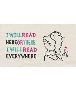 Princess Belle and the Beast with i will read