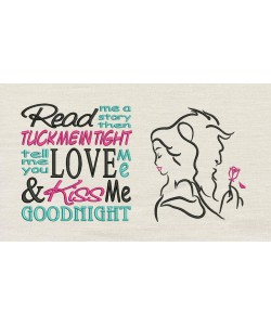 Princess Belle and the Beast with read me