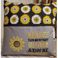 Sunflower embroidery with read me a story designs