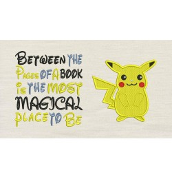 Pokemon Pikachu with Between the Pages