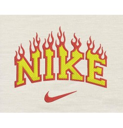 Nike fire embroidery