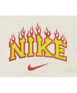 Nike fire embroidery