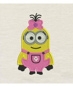 Lola minion Embroidery