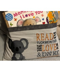 Koala with read me a story Embroidery