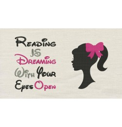 Barbie with reading is dreaming