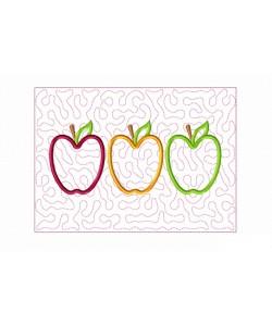 Three apples Quilt Block