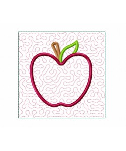 Apple Quilt Block Embroidery