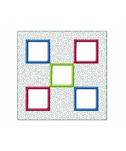 Frames Quilt Block Embroidery