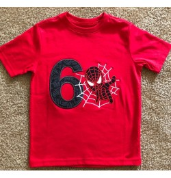 spiderman with number 6 Embroidery