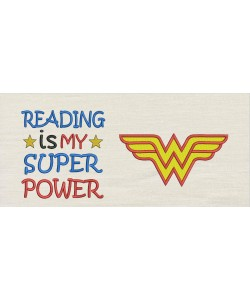 Wonder woman with Reading is My Superpower