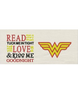 Wonder woman with read me a story